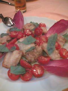 穴子とトマト